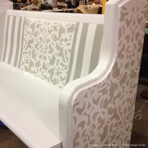 Donatella Damask Allover Stencil by Royal Design Studio