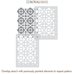NEW! Duomo Tile Allover Stencil