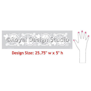 DIY Decorating with Wall Border Stencils - Royal Design Studio