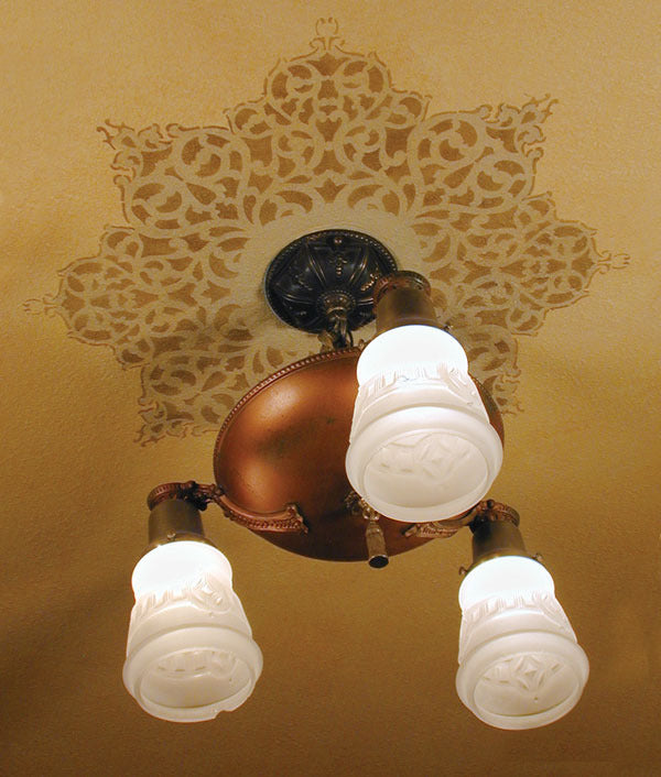 European Lace Ceiling Medallion Stencils