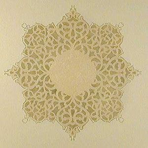 European Lace Ceiling Medallion Stencil