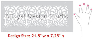 European Lace Border Stencil design