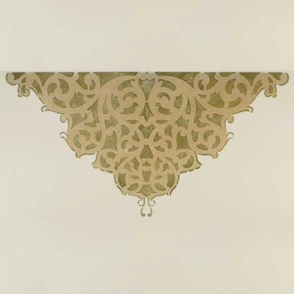 European Lace Center Ceiling Stencils