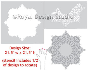 Stencil designs European Lace Ceiling Medallion
