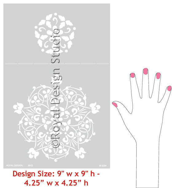 Floral Medallion Set A Wall Stencil patterns