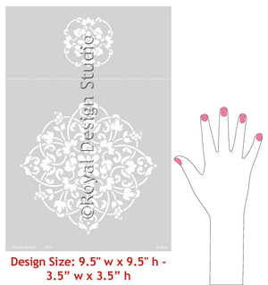 Floral Medallion Set B Wall Stencils designs