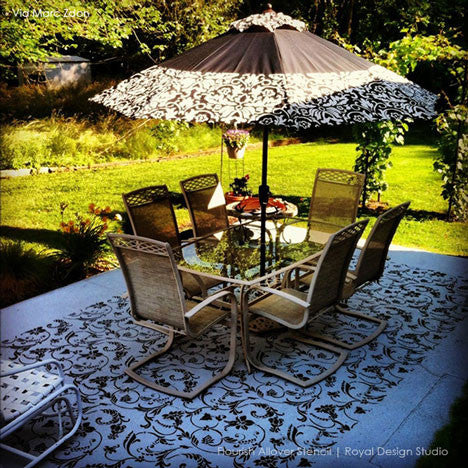 Large Stencils, Flower Stencils, Vine Stencils, and Floor Stencils by Royal Design Studio