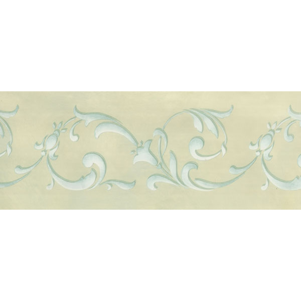Flowing Floral Border Stencil