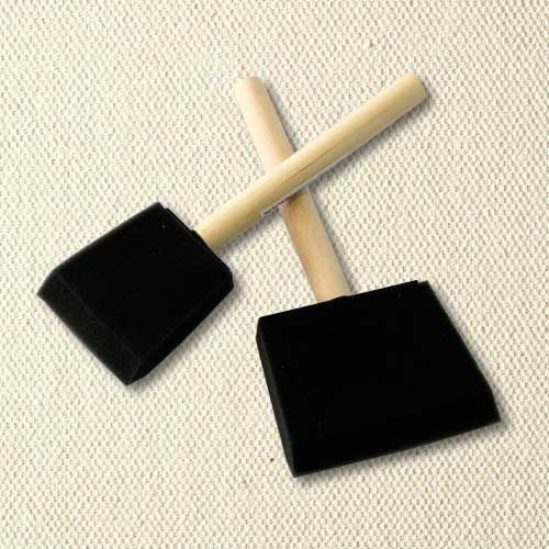 Foam Brushes for base-coating and applying glazes to small areas.