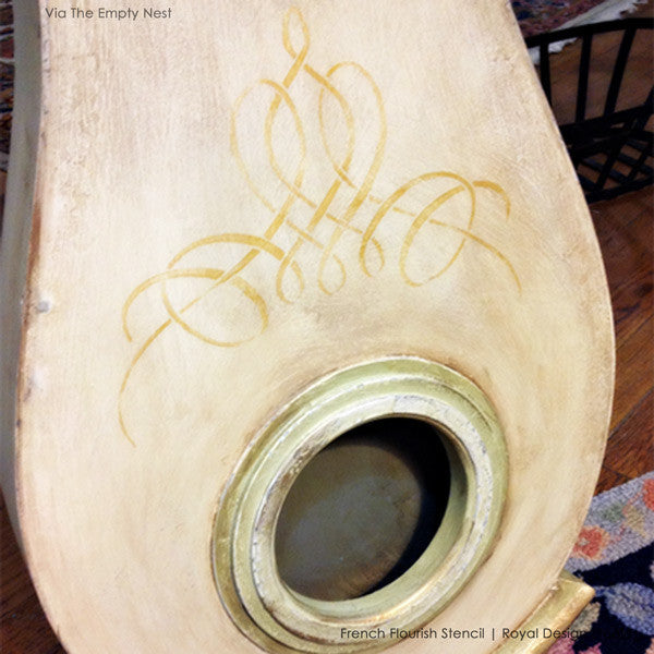 Painted Furniture Stencils with Elegant Wall Art Stencil