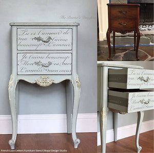 Sensational French Love Letters Furniture Stencil Download Free Architecture Designs Terstmadebymaigaardcom