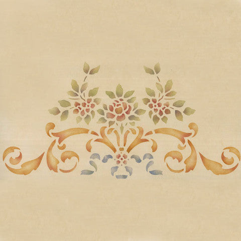 Classic Ceiling and Furniture Stencils - Rose and Floral Center Stencils - Royal Design Studio