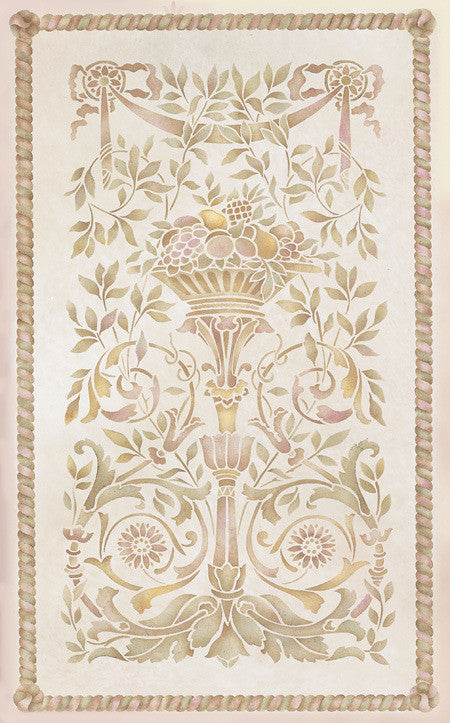 Wall Stencil Grand Panel Classic Stencil Royal Design