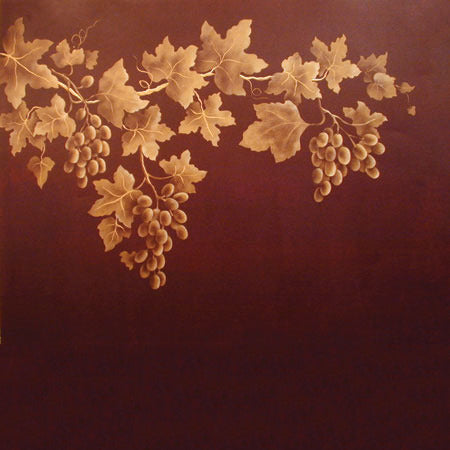 Stencils | Grape Clusters Fruit Stencil Wall Art