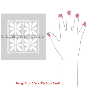 Decorating Pillows, Placemats, or Fabric with African Flower Craft Stencils - Royal Design Studio