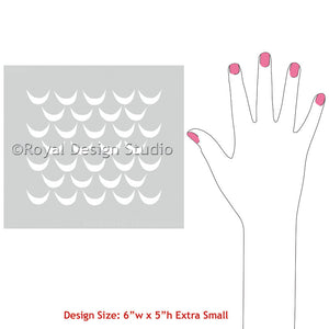 DIY Crafting Projects Stenciled with African Wave Craft Stencils - Royal Design Studio
