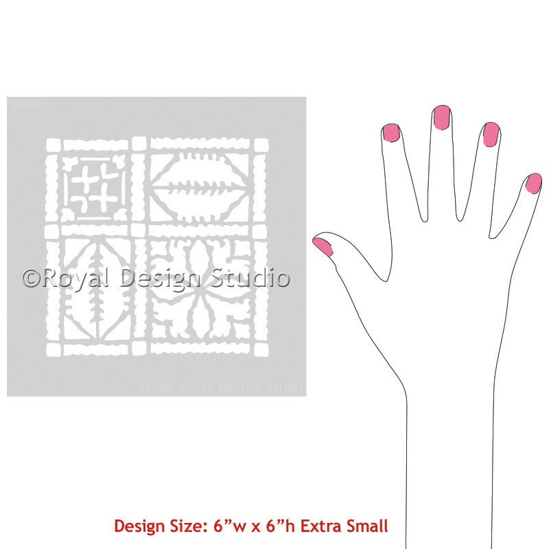 Paint Small DIY Crafts with our Fez Blanket Moroccan Craft Stencil - Royal Design Studio