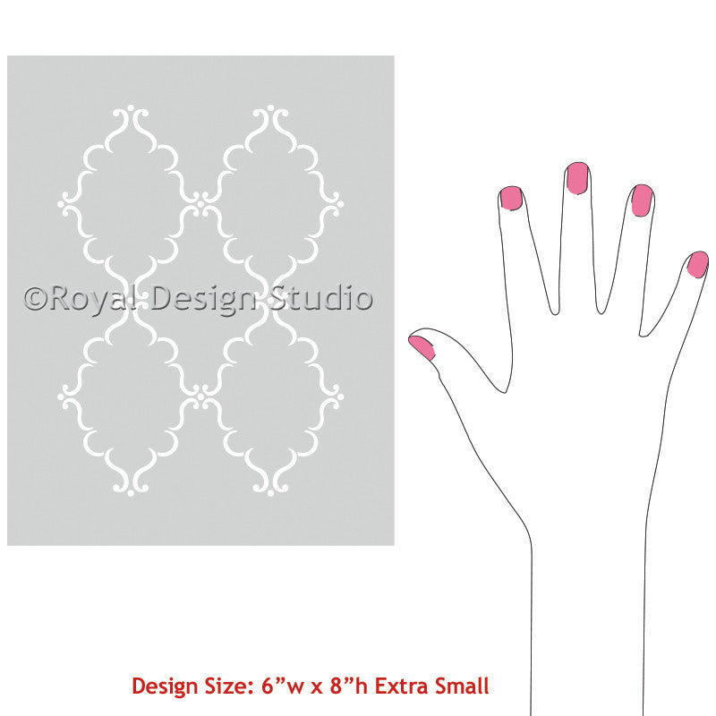 Crafty DIY Projects with Pattern - Raj Trellis Indian Craft Stencils - Royal Design Studio