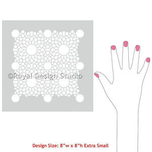 Decorate Arts and Crafts with Intricate Zelij Moroccan Craft Stencils - Royal Design Studio