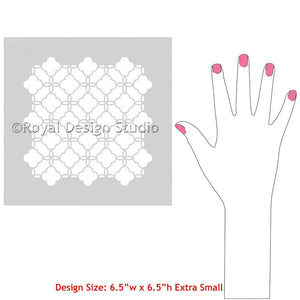 Eastern Lattice Moroccan Craft Stencils for Chic DIY Gifts, Painted Pillows, and more - Royal Design Studio
