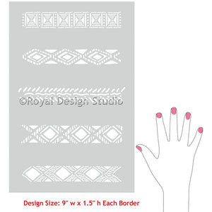 Tribal Border Craft Stencil Set