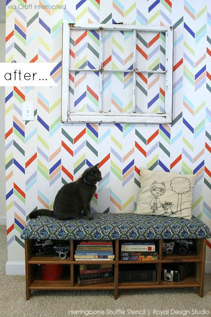 Herringbone Accent Wall
