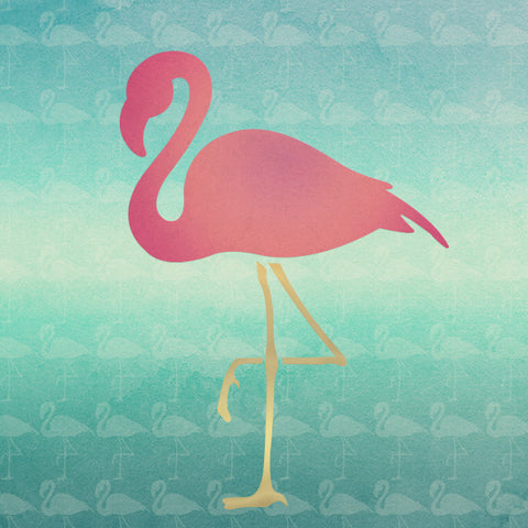 Flamingo Bird Wall Art And Diy Craft Stencil Royal