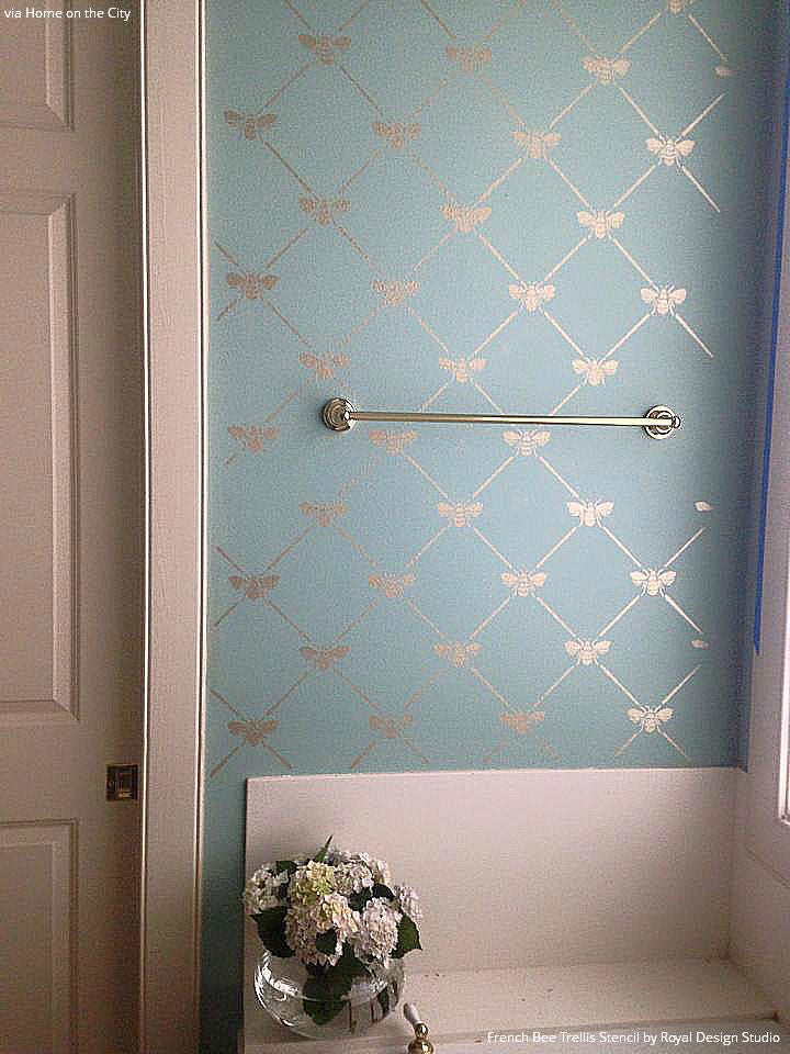 pattern stencils french bee trellis stencil royal