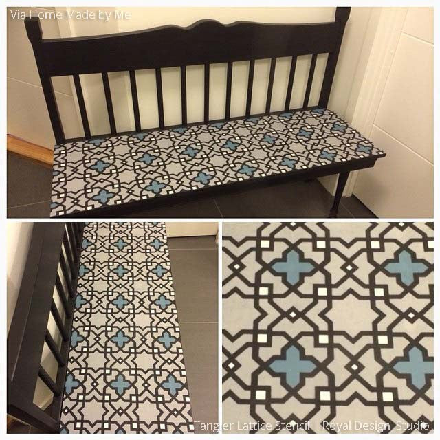 Moroccan Furniture Stencils Small Tangier Lattice