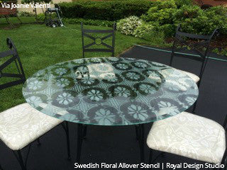 Swedish Floral Allover Stencil