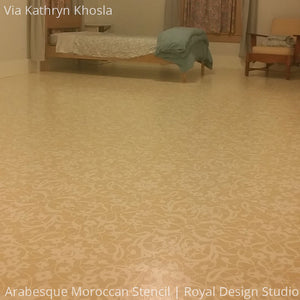 DIY Painted Floor Stencils with Moroccan Patterns - Royal Design Studio