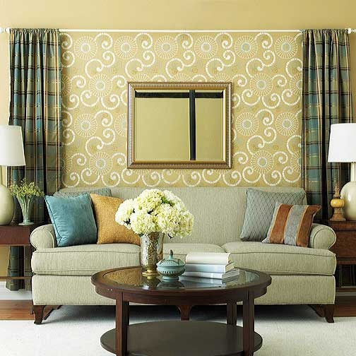 Oriental and Asian Design and Decor - Swirls and Flower Wall Stencils - Royal Design Studio