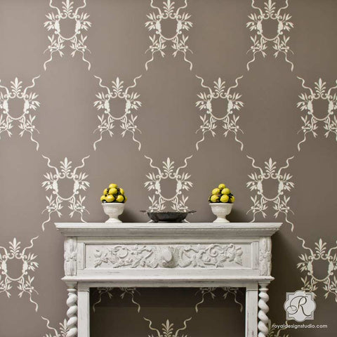 italian wall art stencils classic european room makeover ideas royal design studio. beautiful ideas. Home Design Ideas