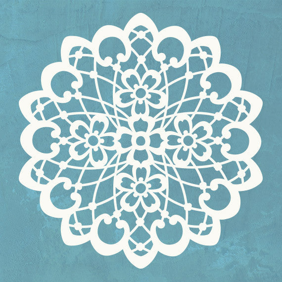 Romantic Lacy Patterns - Lace Doily Pattern Wall Stencils for Painting Wall Art - Royal Design Studio
