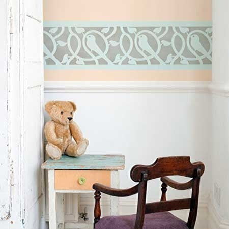 Wall Design Stencils border stencils | wall stencil borders | border furniture stencils