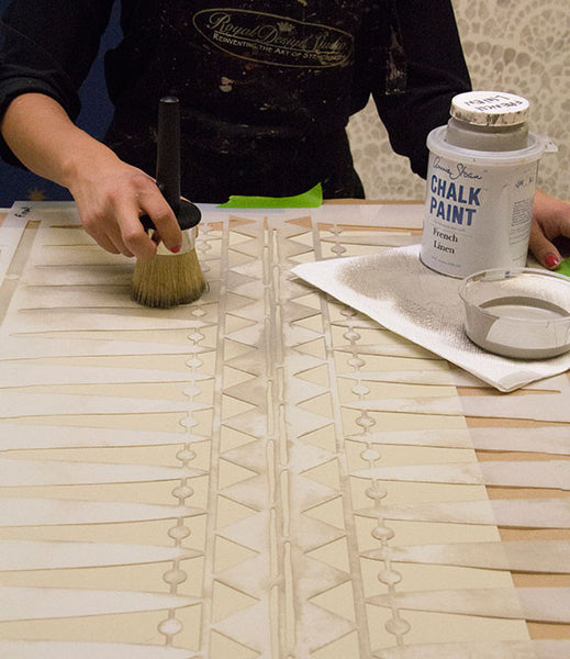 Big Stencil Brush For Stenciling Allover Patterns Amp Waxing