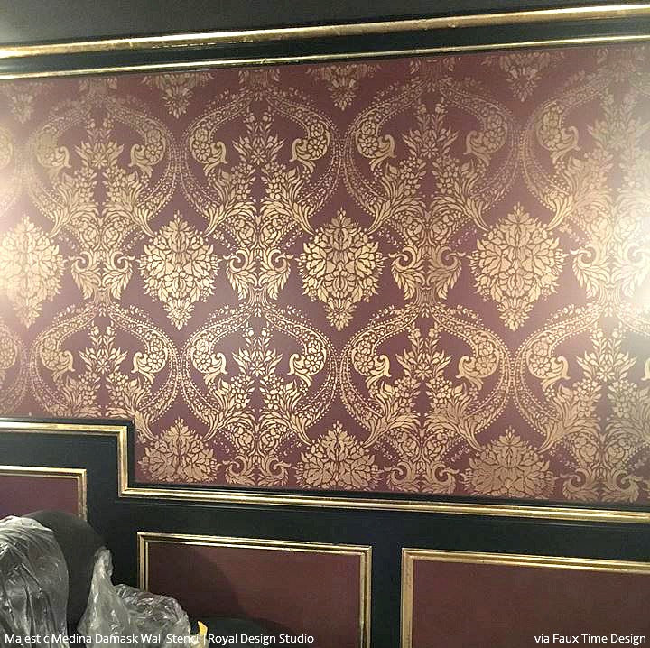 Victorian Mural Wallpaper: Stenciling Pattern For DIY Home