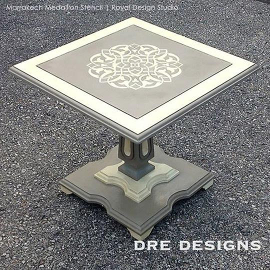 DIY Furniture Painting Stencils - Marrakech Medallion Stencils by Royal Design Studio