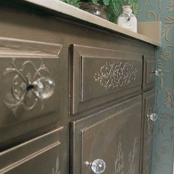 DIY Painted Furniture Projects and Embossed Plaster - Micah Classic Panel Stencils - Royal Design Studio