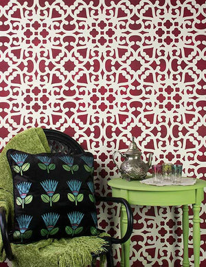 Modern Moroccan Lace Wall Stencils for Painting Accents Walls - Royal Design Studio