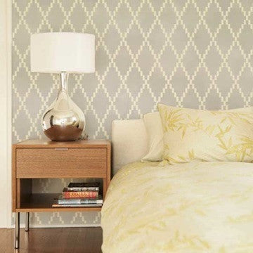 Modern and Geometric Designs for Walls - Royal Design Studio Dotted Diamond Harlequin Wall Stencil