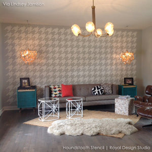 Houndstooth Allover Wall Stencil