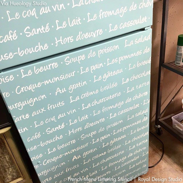 French Menu Lettering Stencil