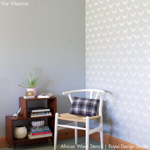 Decorating Walls with Scallop Pattern and Wall Stencils