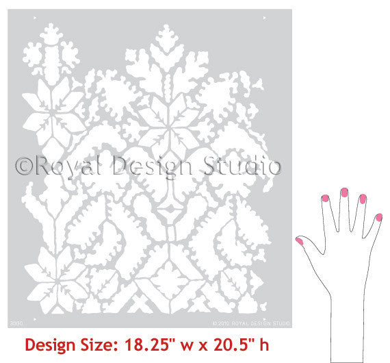 Moroccan Lace Border Stencils designs