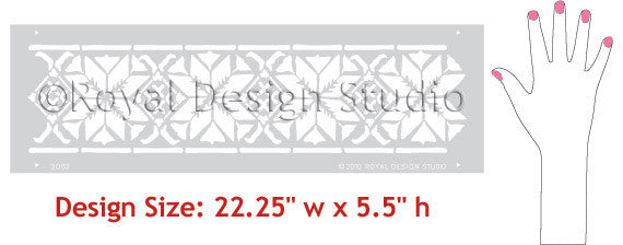 Border Stencils designs Moroccan Star