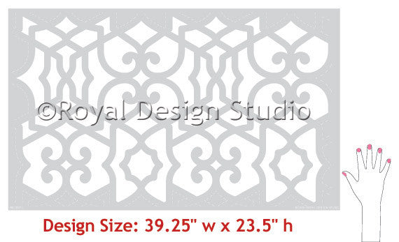 Moroccan Stencils and Wall Stencils by Royal Design Studio