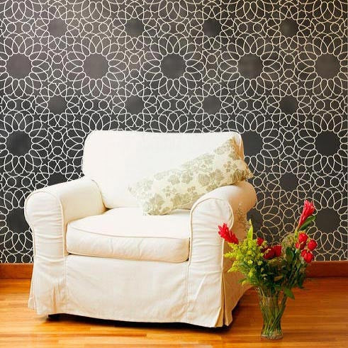 Intricate and Detailed Moroccan Patterns - Zelij Designs Painting with Wall Stencils - Royal Design Studio