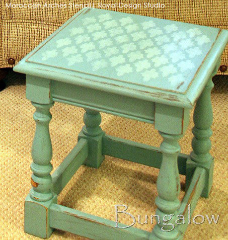 DIY Painted Furnitrue and Chalk Paint - Moroccan Arches Stencil by Royal Design Studio