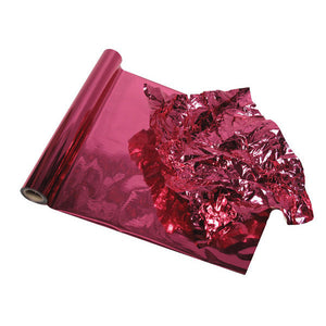 Hot Pink Metallic Color Foil for Decorative Wall Finishes